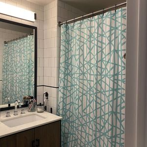 Gracious Home Abstract Print Shower Curtain